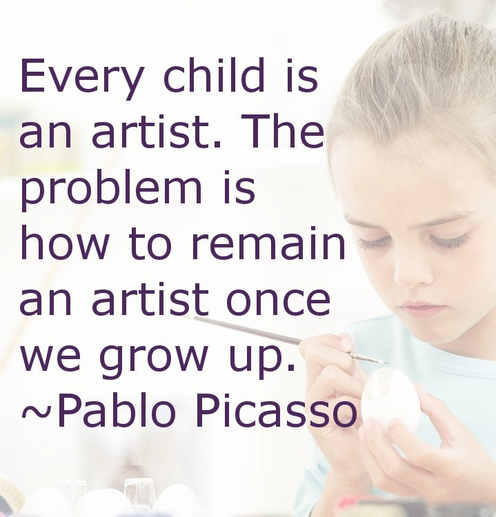 Every child is an artist the problem is how to remain an artist once we grow up