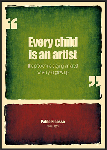 Every child is an artist the problem is staying an artist when you grow up