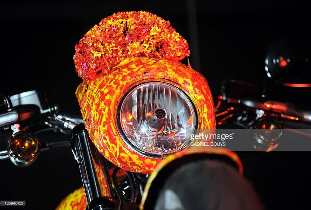 Amazing 1 Million Dollar Harley Davidson Bike Head Light View