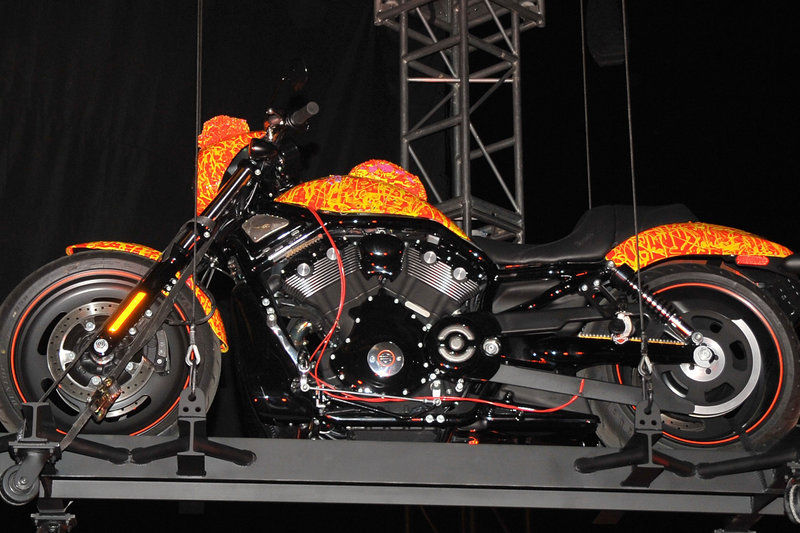 Amazing 1 Million Dollar Harley Davidson Orange Bike