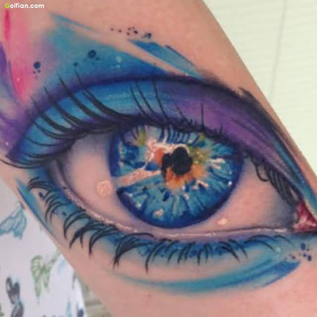 Amazing 3d Aqua Eye Tattoo Design For Men Sleeve Segerios Com