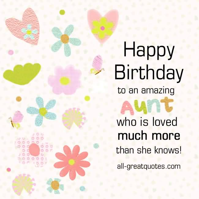 Amazing Happy Birthday Aunt Wishes E Card Greetings