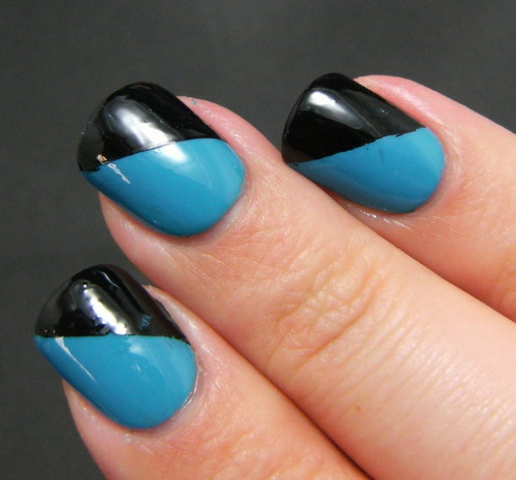 Awesome French Diagonal Tip Nail Simple Design