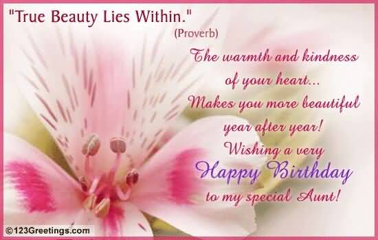 Beautiful happy birthday greeting e card for lovely aunt m4hsunfo