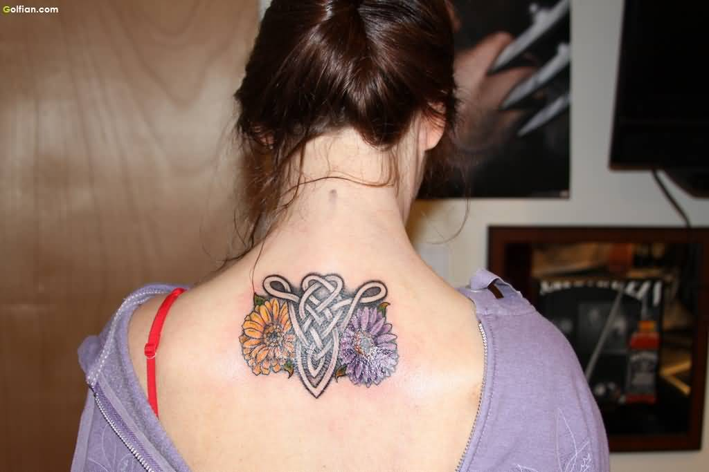 60 trendy zodiac aries back tattoo design and ideas for Flowers for aries woman
