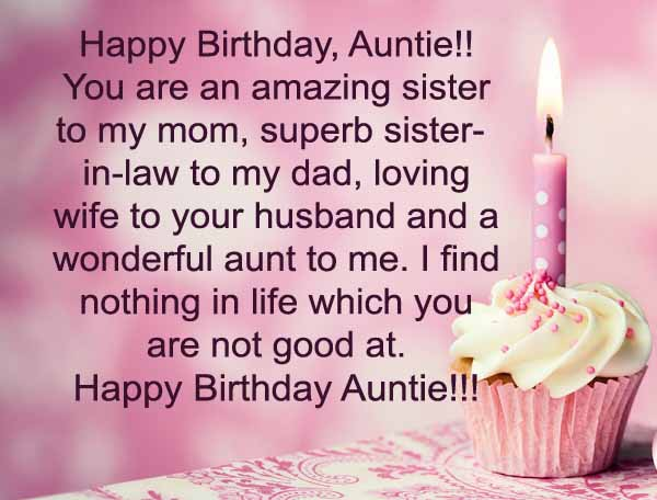 Best Aunt Birthday Wishes Greeting E Card With Candle Cupcake