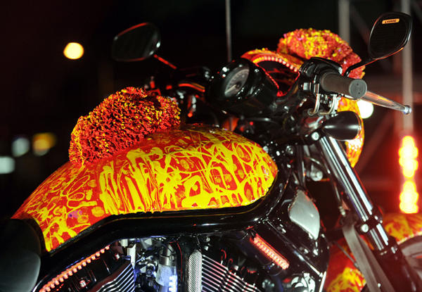 Best Custom Made One Million $ Harley Davidson Orange Motorcycle
