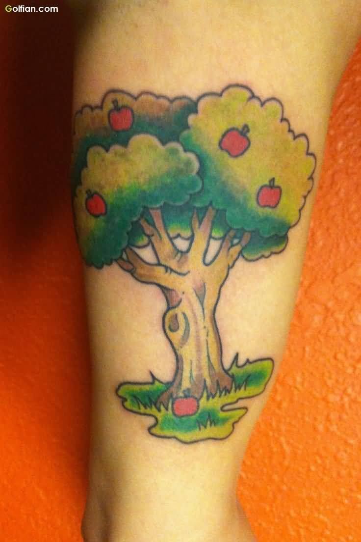 50 amazing apple tree tattoo designs for Apple tree tattoo designs