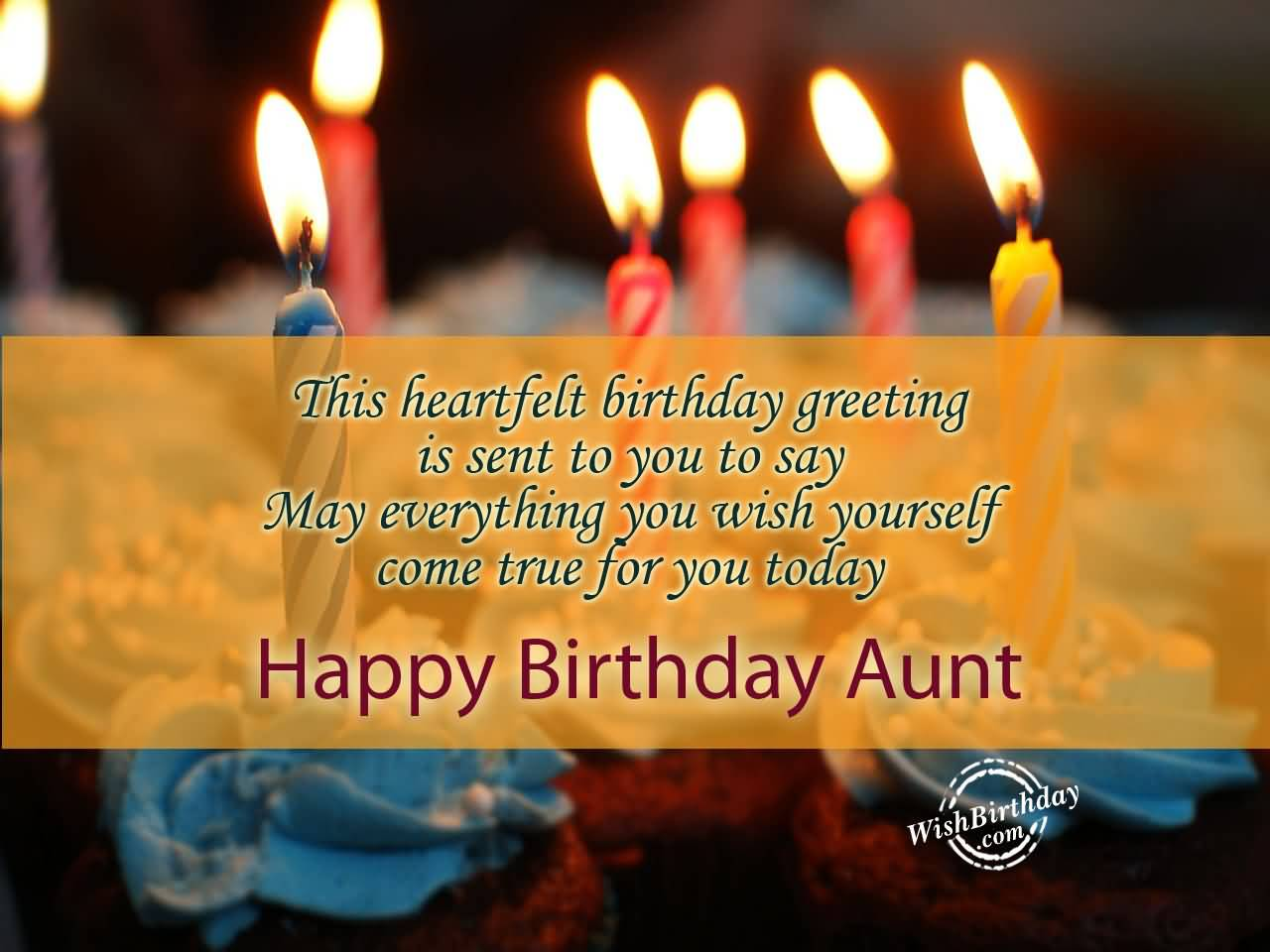 Fabulous Candle Happy Birthday Aunt Quote Greetings