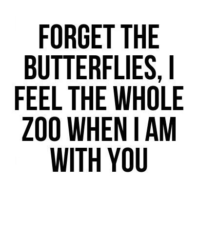 Forget The Butterflies,I Feel The Whole Zoo When I Am With You