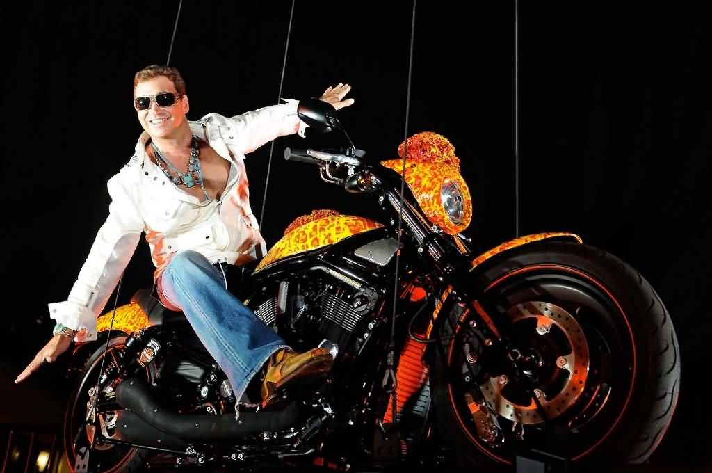 Jack Armstrongs On 1 Million Dollar Harley Davidson Orange Bike