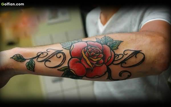 70 coolest forearm tattoos design and ideas gallery for Initial tattoos for guys