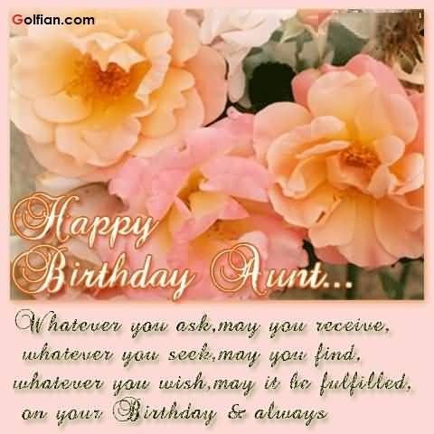 Mind Blowing Aunt Birthday Wishes Greeting E Card With Flowers