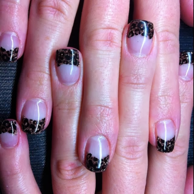 Mind Blowing Glowing Black French Tip Nail Art