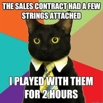 The sales contract had a few strings attached i played with then for 2 hours