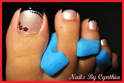 Ultimate French Tip Nail Art For Foot Finger