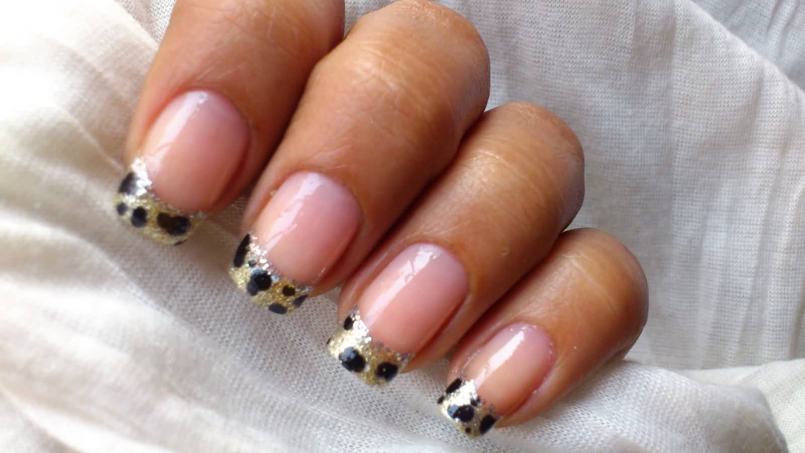 Very Beautiful Leopard French Tip Nail For Party