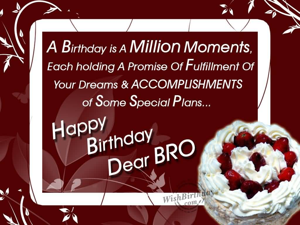 Brother Birthday Wishes For Facebook