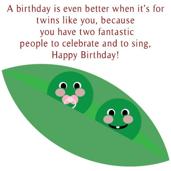 A Birthday Is Even Better When It's For Twins Like You People To Celebrate And To Sing Happy Birthday