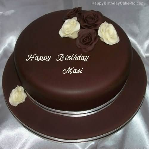 Awesome Chocolate Cake For Birthday Happy Birthday Masi