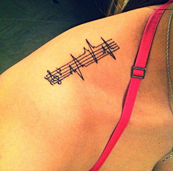 150 attractive heartbeat tattoos designs and ideas stock for Heartbeat design