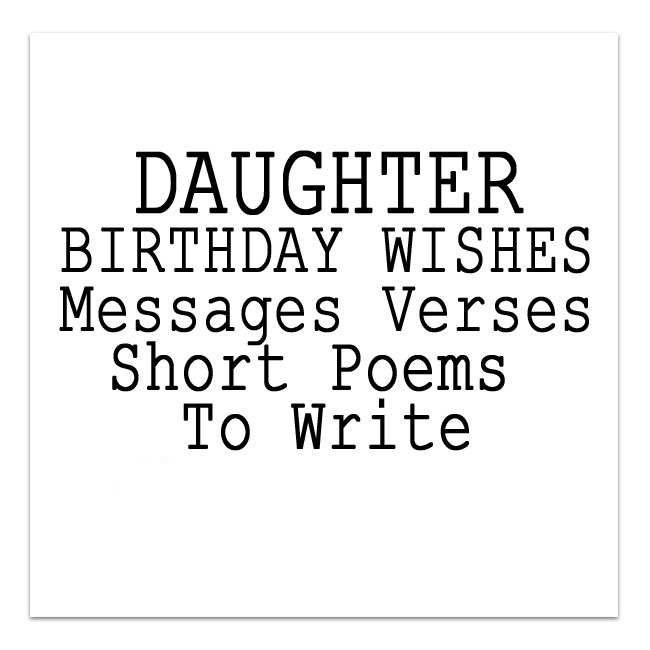 Daughter Birthday Card Sayings