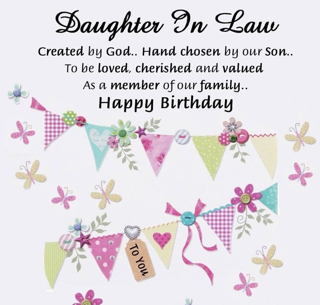 100 Beautiful Birthday Wishes Greetings For Daughter In Law