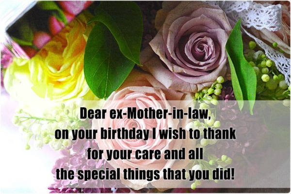 20 great birthday wishes for ex mother in law dear ex mother in law on your birthday i wish to thanks for your care and m4hsunfo