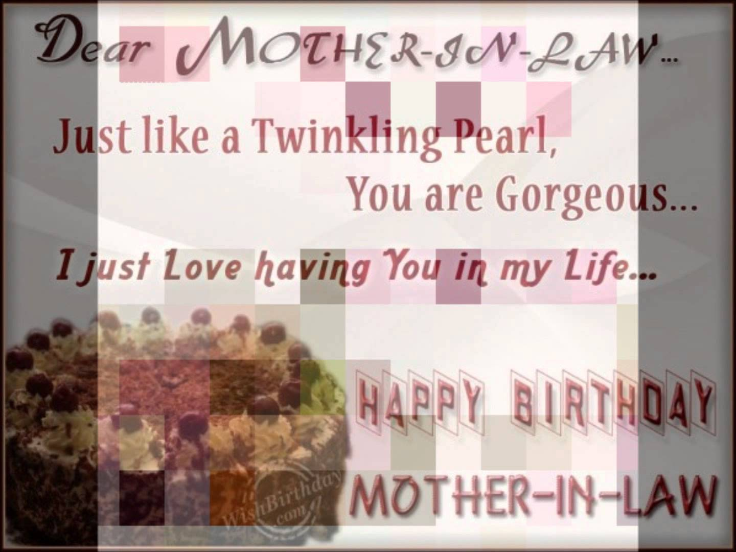 Wonderful Mother In Law Birthday Wishes