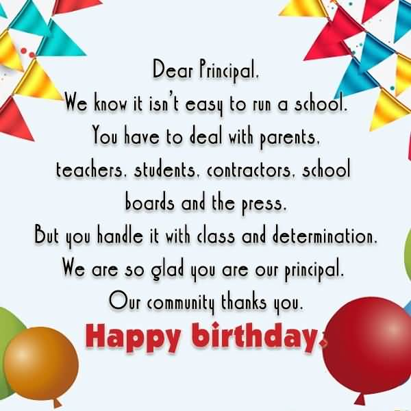 Birthday Messages For Principal Happy Birthday Wishes To Principal