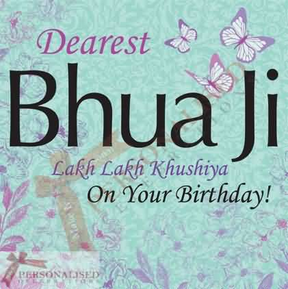 50 wonderful bua birthday wishes greetings segerios dearest bhua ji lakh lakh khushiya on your birthday punjabi greeting card bookmarktalkfo Image collections