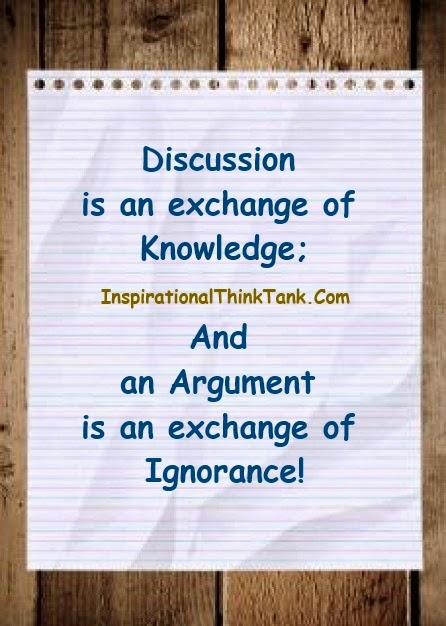 Discussion is an exchange of knowledge an argument an exchan