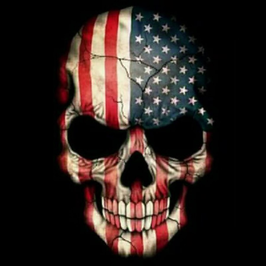 Famous USA Flag Army Skull 3d Tattoo Stencil Design