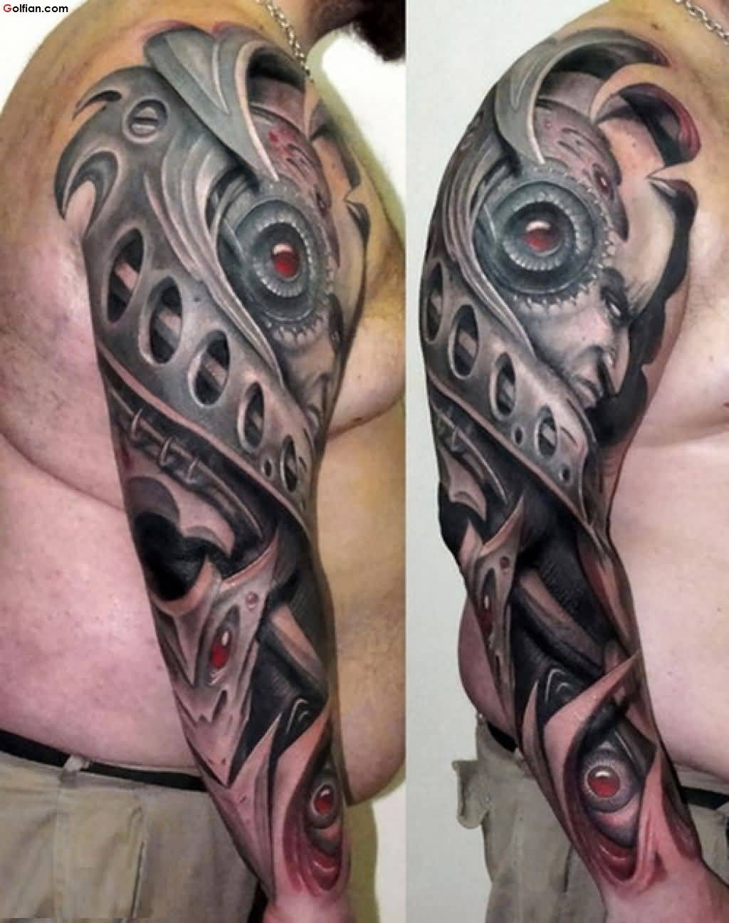 60 mind boggling 3d arm tattoos designs and ideas for Tattoo ideas arm