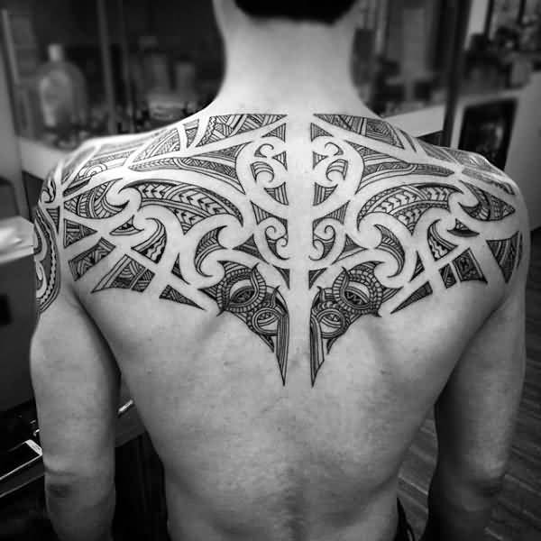 100 inspirational back tattoo design and ideas stock for Back tribal tattoo
