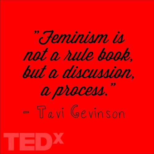 Feminism is not a rulebook but a discussion