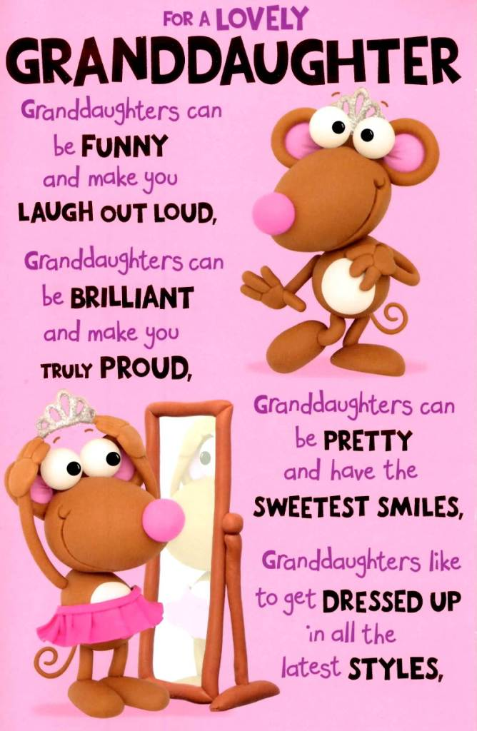For A Lovely Granddaughter Can Be Funny And Make You Laugh Out Loud
