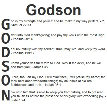 Godson God Is My Strength And Power And He Maketh My Way Perfect
