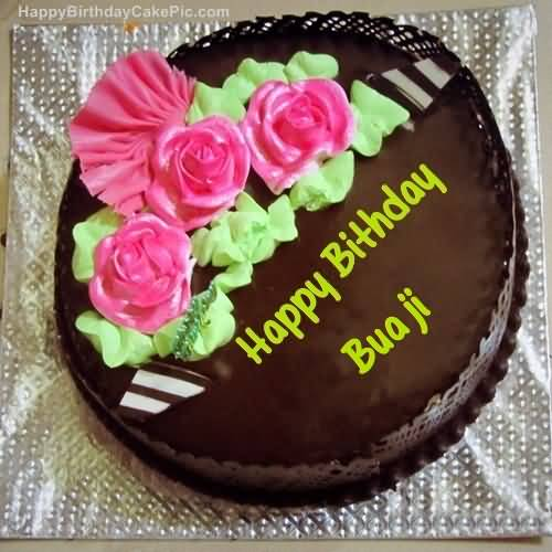 50 wonderful bua birthday wishes greetings segerios happy birthday bua ji with chocolate cake bookmarktalkfo Image collections