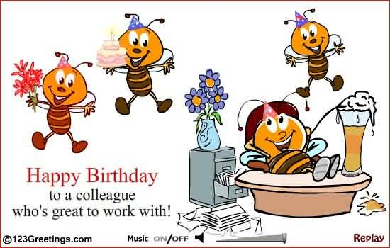 Funny birthday wishes for colleague segerios segerios happy birthday ta a colleague whos great to work with m4hsunfo