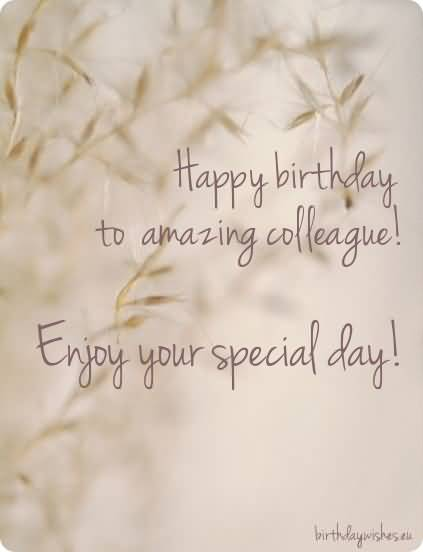happy birthday to amazing colleague enjoy your special day