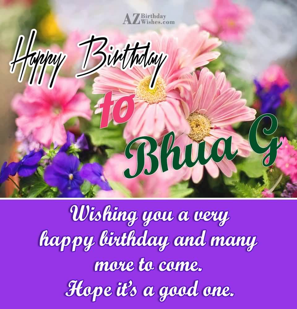 Birthday picture for bua birthday segerios segerios happy birthday to bhua g wishing you a very happy birthday and many more to come bookmarktalkfo Image collections