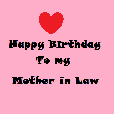 Happy Birthday Mother In Law Card Segerios
