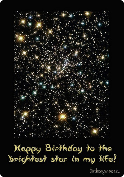Happy Birthday To The Brightest Star In My Life