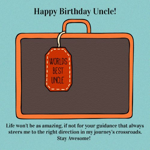 Happy Birthday Uncle World's Best Uncle Life Won't Be As Amazing Stay Awesome