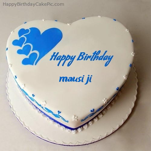 Heart Cake Happy Birthday Mausi Ji
