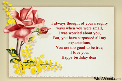 I Always Thought Of Your Naughty Ways Happy Birthday Dear
