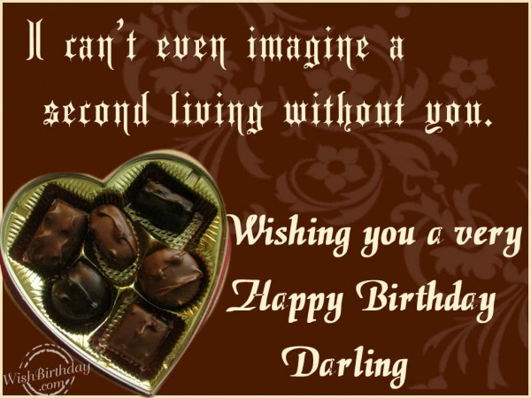 I Can't Even Imagine A Special Living Without You Wishing You A Very Happy Birthday Darling
