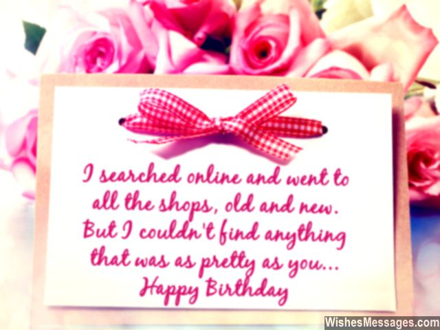 I Searched Online And Went To All The Shops Old And New But I Couldn't Find That Pretty As You Happy Birthday