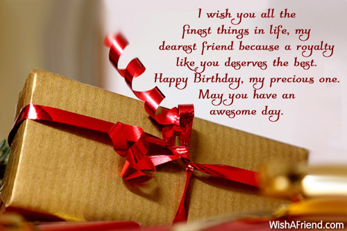 Birthday greeting for friend i wish you all the finest things in life my dearest friend may you have an m4hsunfo